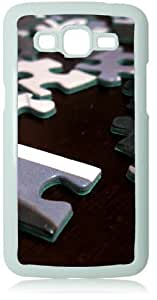 Puzzle Peices White Back Cover Case for Samsung Galaxy Grand 2 G7106