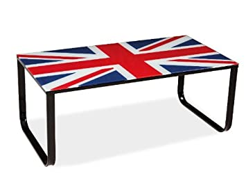 "Design Couchtisch ""Great Britain I"" Glastisch"