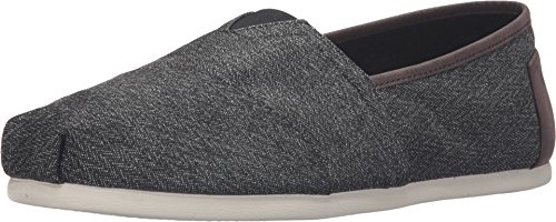 TOMS Men's Classic Canvas Slip-On Charcoal Herringbone 9.5 D(M) US (Classic Toms compare prices)