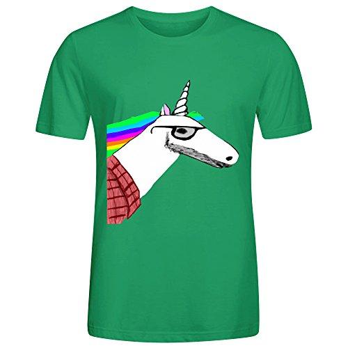 hipster-unicorn-men-t-shirts-green-casual