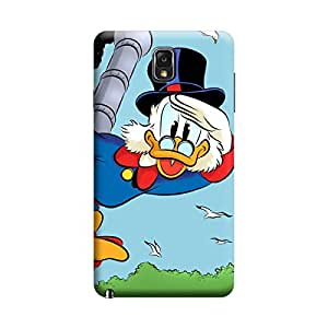 Desicase Samsung Note 3 Donald Duck 3D Matte Finishing Printed Designer Hard Back Case Cover (Multicolor)