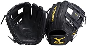 Mizuno Pro Limited GMP61BK Baseball Fielder's Mitt, Black, 11.50-Inch, Right Handed Throw