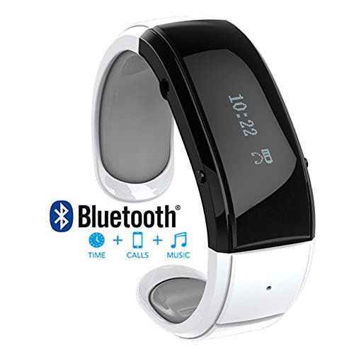 [Prime] White Bluetooth Smart Wrist Watch Phone Bracelet For Ios Android Samsung Iphone Htc Lg