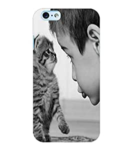 ColourCraft Cute Cat Design Back Case Cover for APPLE IPHONE 6S