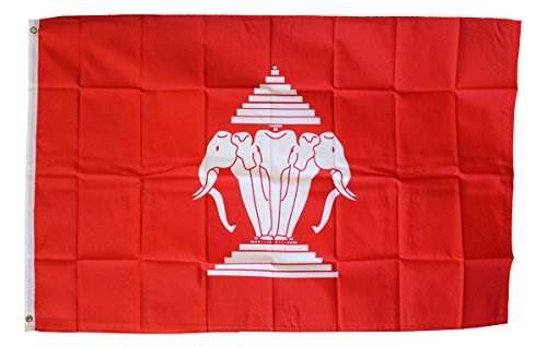 Laos (Old) - 3' x 5' Polyester Foreign Historical Flag