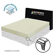 "Hot Sale Best Price Mattress Full 6"" memory foam mattress + bed frame set -Full size-No box spring needed"
