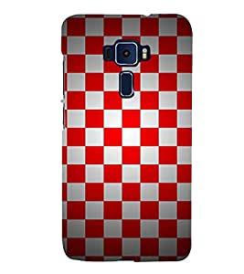 Chess Board Checks Cute Fashion 3D Hard Polycarbonate Designer Back Case Cover for Asus Zenfone 3 ZE520KL (5.2 Inches)