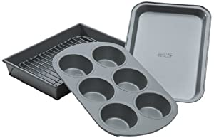 Chicago Metallic. Professional 4-Piece Non-Stick Toaster Oven Bakeware Set