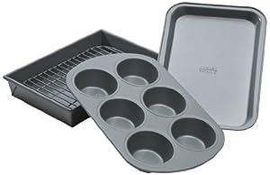 Chicago Metallic Non-Stick 4-Piece Toaster Oven Set by CHICAGO METALLIC