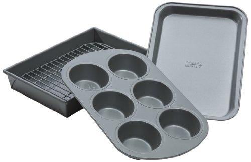 Chicago Metallic Non-Stick 4-Piece Toaster Oven