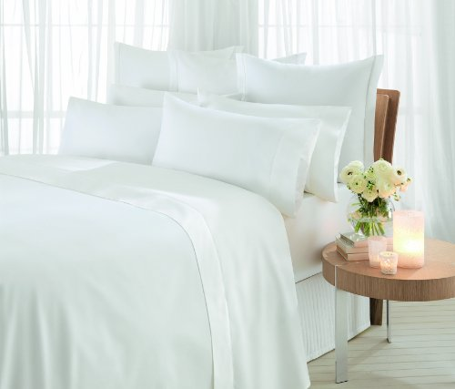 Sheridan Essentials, 1000 Thread Count Snow, Cotton Sateen, Flat Sheet, Double, 240 x 260 cm