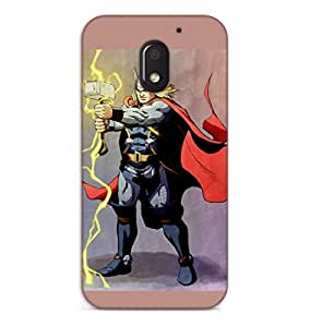 Happoz Motorola Moto E3 Power (3rd Generation) Cases Back Cover Mobile Pouches Shell Hard Plastic Graphic Armour Premium Printed Designer Cartoon Girl 3D Funky Fancy Slim Graffiti Imported Cute Colurful Stylish Boys D095