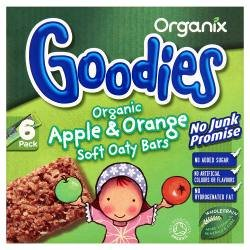 Organix Goodies Organic Apple & Orange Soft Oaty Bars from 12+ Months 6 Pack