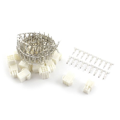 uxcell® 10 Sets 4.5mm 3 Rows 9Pin Tamiya Plug Unwired Terminal Connector White