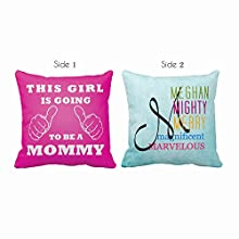 TYYC This Girl is Going to be a Mommy Printed Cushion Cover - 16X16 Inches, Gifts for New Moms, would be mom
