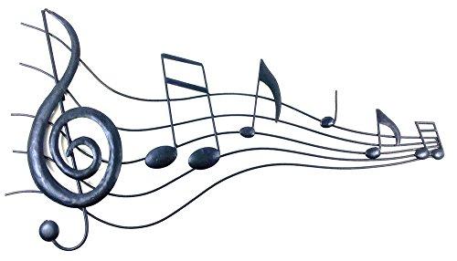 Neue-moderne-Metallwand-Kunst-Bild-oder-Skulptur-Musik-Stream-Score
