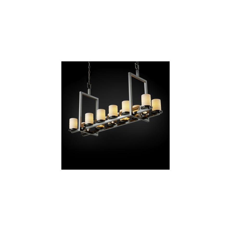 Justice Design Group POR 8720 10 WAVE NCKL Limoges 17 Light Chandeliers in Brushed Nickel