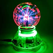 3″ Music / Sound Activated Plasma Ball Sphere Night Light Lamp Lighting 110V