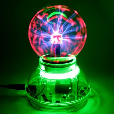 "3"" Music / Sound Activated Plasma Ball Sphere Night Light Lamp Lighting 110V back-524398"