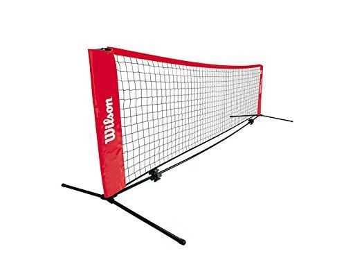 Wilson Tennisnetz Tennisnetz, rot-schwarz, 3,2m breit und höhenverstellbar, Z2571