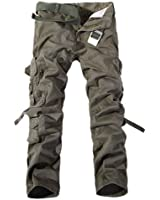 Hee Grand Men's Cotton Casual Military Army Cargo Camo Combat Work Pants