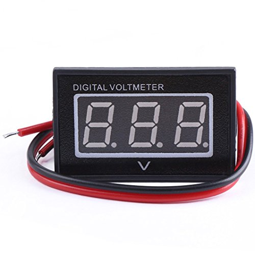 GEREE 0.40'' Bright Red LED Digital Voltmeter DC 3-30V Waterproof Voltage Meter Panel 12V/24V Volt Tester Gauge Low Consumption Power Monitor Detector for Car Vehicle Auto Boat Battery Monitoring (12 Volt Digital Meter compare prices)