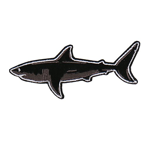 Hot Leathers, GREAT WHITE SHARK BACK BIKE, High Quality Iron-On / Saw-On, Heat Sealed Backing Rayon PATCH - 4