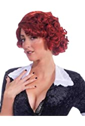 Sexy Red French Maid Wig - Adult Std.
