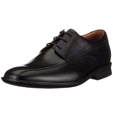 Clarks Goya Band Black Leather 203391007060  Men's Lace-Up Shoes  - Black, 6 UK