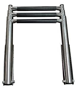 3 Step Stainless Steel Telescoping Boat Ladder Upper Platform