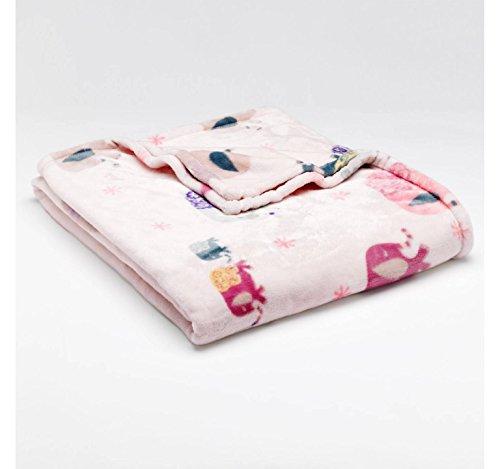 """The Big One Oversized Microplush Fleece Throw Blanket 60"""" X 72"""" - Pink Elephants front-866979"""