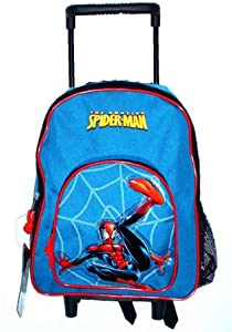 Marvel The Amazing Spiderman Rolling Backpack Small Mini Toddler Mid-size