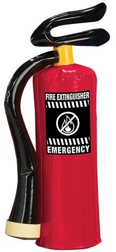 red INFLATABLE FIREMAN fire EXTINQUISHER kids prop halloween costume