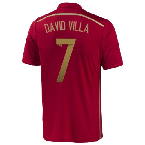 Adidas DAVID VILLA #7 Spain Home Jersey World Cup 2014 (L)