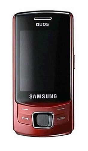 Samsung C6112 Dual Sim Unlocked Cell Phone with 2 MP Camera, MP3 player, Bluetooth--International Version with No U.S. Warranty (Red)