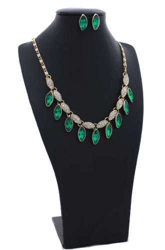 Emerald Green Glass Marquise-Cut 18