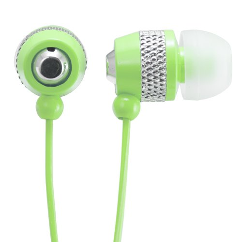 Audiology Au-148-Gr In-Ear Stereo Earphones For Mp3 Players, Ipods And Iphones (Green)