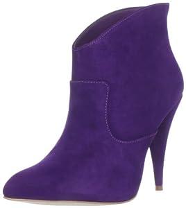 Steven Steve Madden Kinx Womens Purple Suede Fashion Ankle Boots Size UK 4.5