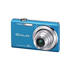 Casio Exilim EX-ZS10 Blue 14 MP Stylish and Slim Digital Camera with 5x Wide-Angle Zoom and 720p HD Video Capture