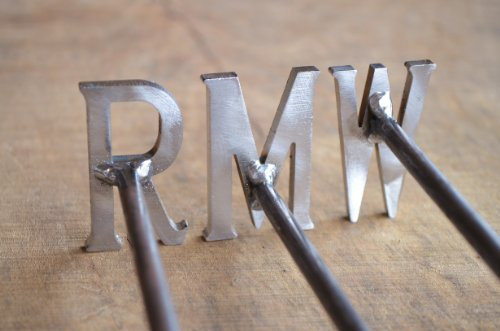 Handmade Branding Iron Set - R M W - Rare, Medium, Well Done