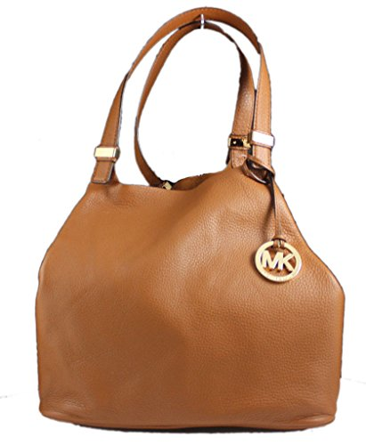 eddffdd49655 Michael Kors Colgate Large Grab Bag in Reversible Luggage Brown Leather and  Suede