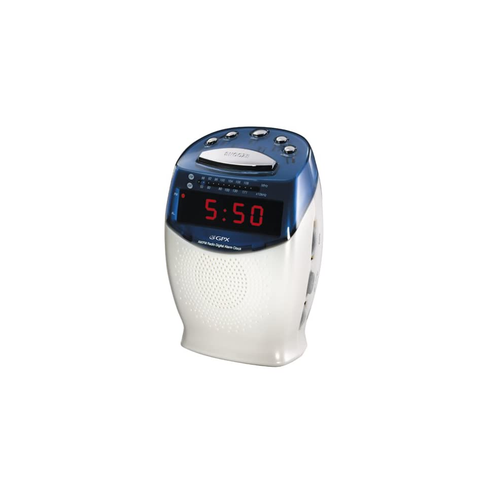 GPX D550 AM/FM Alarm Digital Clock Radio Electronics