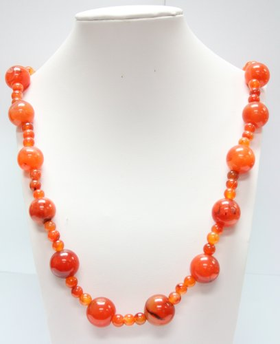 Polycarbonate Amber Bead Necklace - Tribal Fashion Necklace