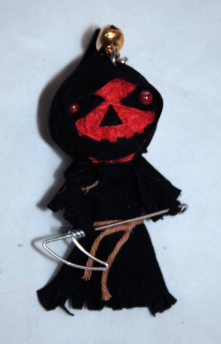 1 X The Grim Reaper Voodoo String Doll Keychain
