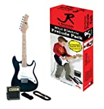 J. Reynolds Mini Double Cutaway Electric Guitar Prelude Pack - Black