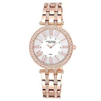 Anne klein new york swarovski crystal rose tone women 39 s watch clothing for Anne klein swarovski crystals