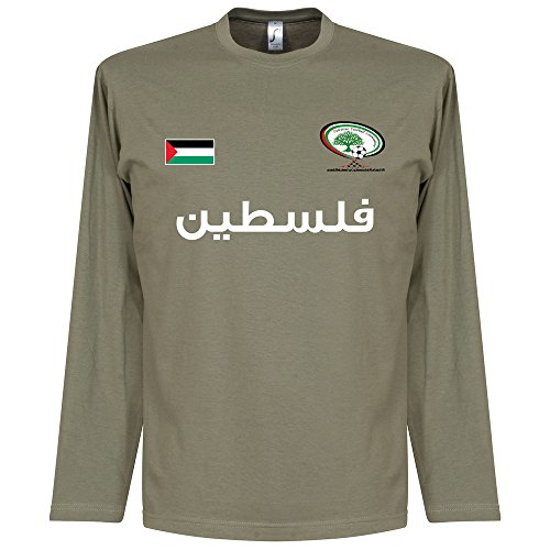 Palestine L/S Football Tee - Khaki - XXL (Palestine Football Jersey compare prices)