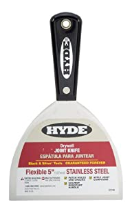Hyde Tools 1740 5-Inch Flexible Stainless Steel Joint Knife, Black and Silver