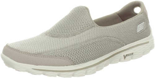 Skechers Women's Go Walk 2 Fashion Sneaker,Stone,7.5 M US