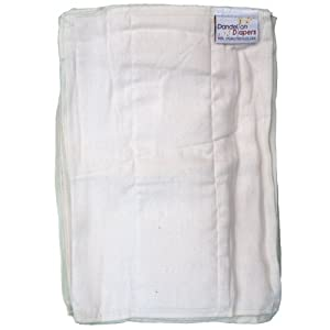 Dandelion Diapers 100% Organic Cotton DSQ Prefolds Half Dozen - Size 1